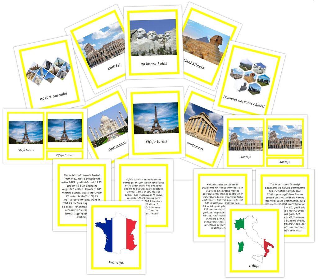Paplašinātais komplekts - Apkārt pasaulei + Pasaules apskates objekti