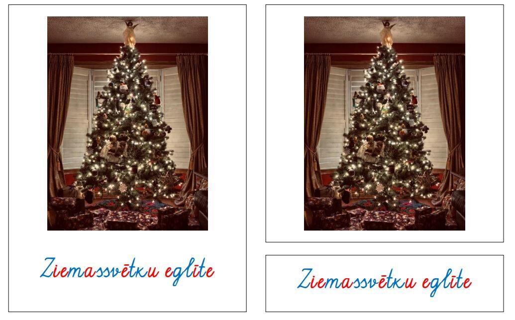 Ziemassvētku simboli - krāsaini rakstītie burti