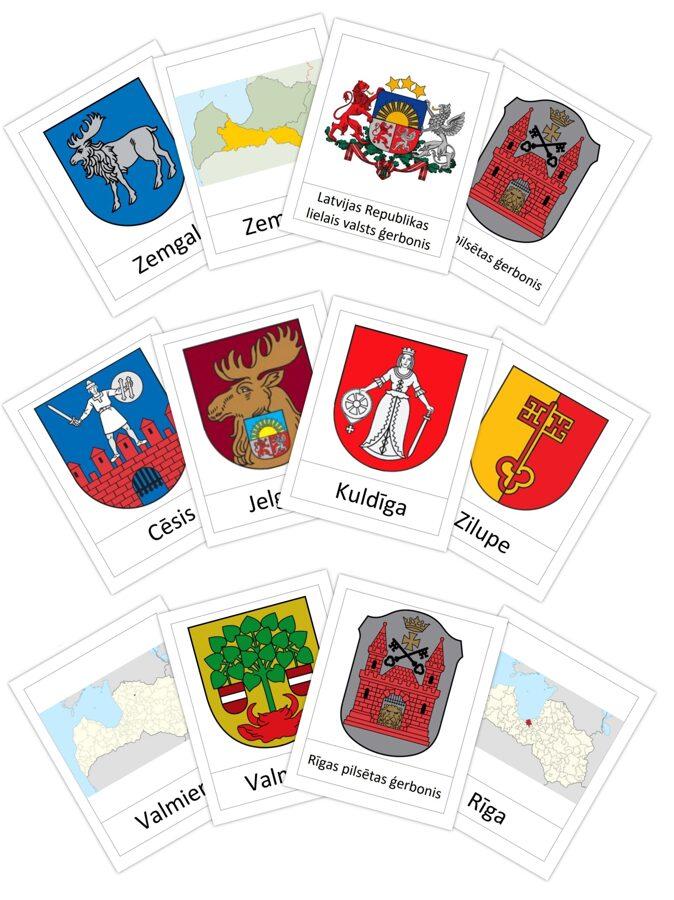 Komplekts - Latvijas ģerboņi
