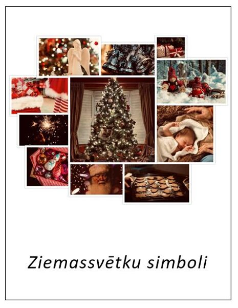 Ziemassvētku simboli - iespiedburti