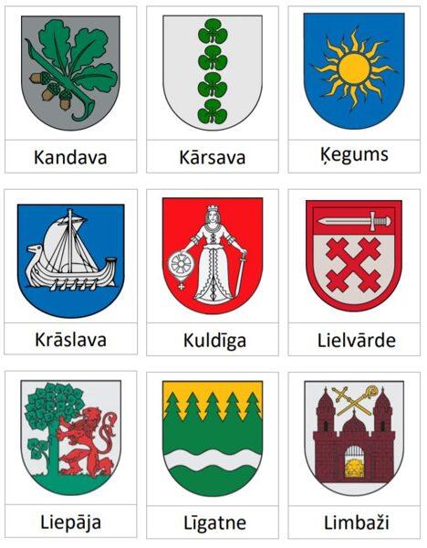 Latvijas Novadu pilsētu ģerboņi